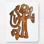Horned figure rust mouse pads