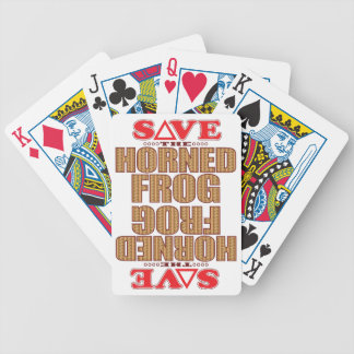 Horned Frog Save Bicycle Playing Cards