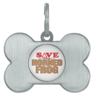 Horned Frog Save Pet ID Tag