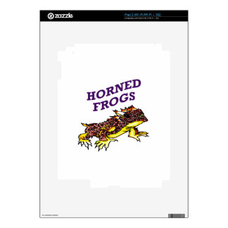 HORNED FROGS DECALS FOR iPad 2