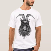 Horned Goat/ Black Sheep Head T-Shirt