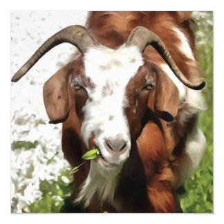 Horned Goat Grazing Magnetic Card