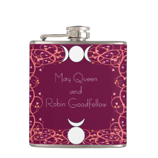 Horned God and 3-in-1 Wiccan Handfasting Hipflask Hip Flasks