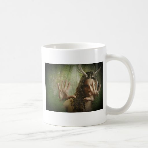 Horned God Forest Classic White Coffee Mug
