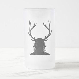 Horned God Frosted Glass Beer Mug