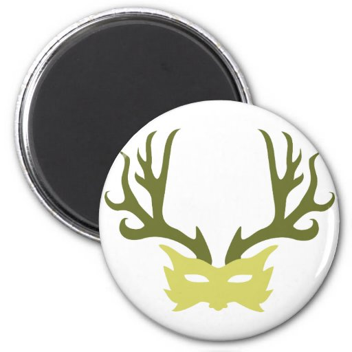 Horned God Mask Magnet