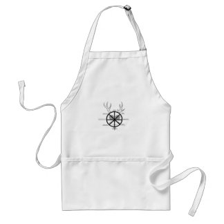 Horned God Wheel Of The Year Adult Apron