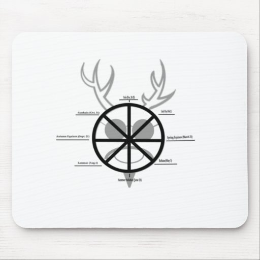 Horned God Wheel Of The Year Mousepad