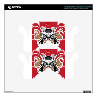 Horned Helmet on asian warrior Vector Decal For PS3 Controller