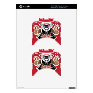 Horned Helmet on asian warrior Vector Xbox 360 Controller Decal