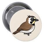 Horned Lark Button