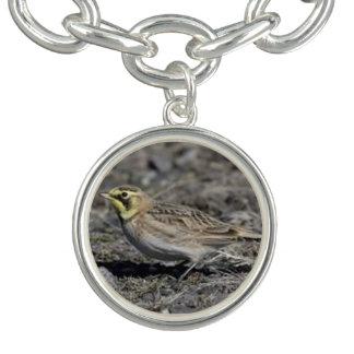 Horned Lark Charm Bracelet
