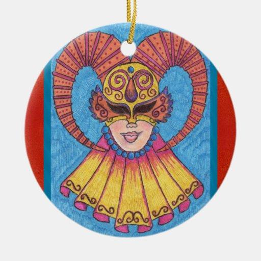 Horned Mardi Gras Mask 2011 Ornament