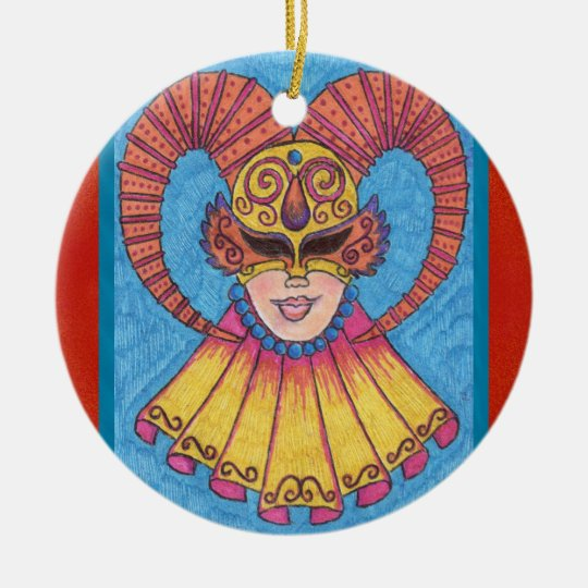 Horned Mardi Gras Mask 2011 Ornament