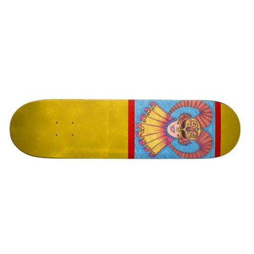 Horned Mardi Gras Mask Skateboard