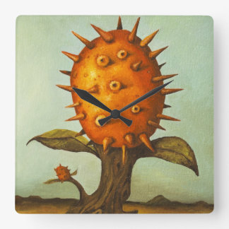 Horned Melon Square Wall Clock