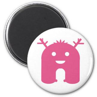 Horned Monster! - Pink Fridge Magnet