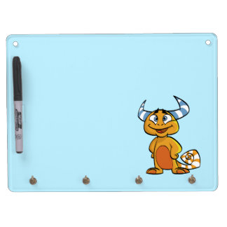 Horned Mythical Creature Dry Erase Board With Keychain Holder