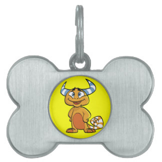 Horned Mythical Creature Pet Name Tag