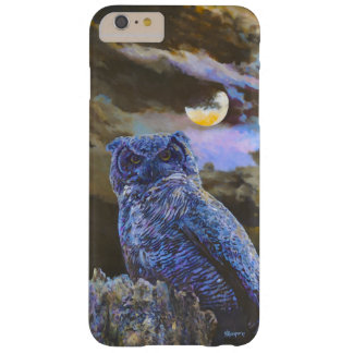 Horned Owl at Night Acrylic Painting iPhone 6 Plus Barely There iPhone 6 Plus Case