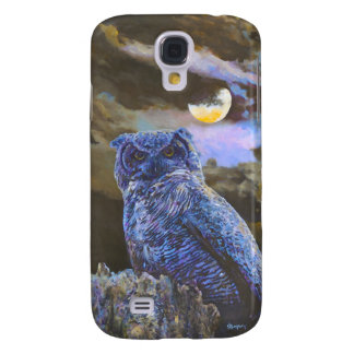 Horned Owl at Night by Steve Berger Galaxy S4 Galaxy S4 Cover