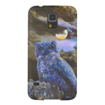 Horned Owl at Night by Steve Berger Galaxy S5 Galaxy S5 Cover