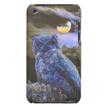 Horned Owl at Night by Steve Berger iPod Touch iPod Touch Cover