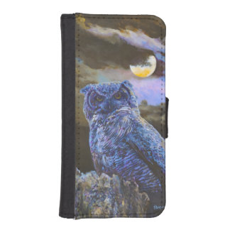 Horned Owl at Night Painting iPhone 5/5s Wallet