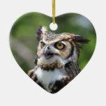Horned Owl Christmas Tree Ornaments
