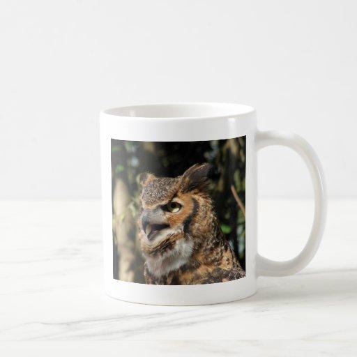 Horned Owl Classic White Coffee Mug