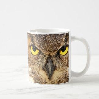 Horned Owl Face Basic White Mug