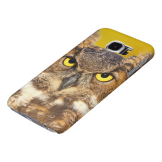 Horned Owl Face Samsung Galaxy S6 Cases