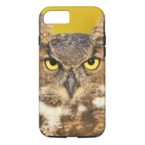 Horned Owl Face Tough iPhone 7 Case