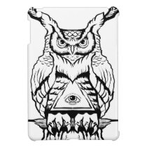 horned owl flash iPad mini covers