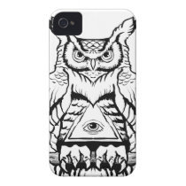 horned owl flash iPhone 4 case