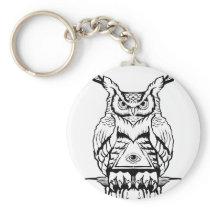 horned owl flash keychain