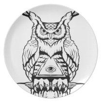 horned owl flash plate