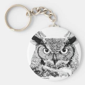Horned Owl Key Chain