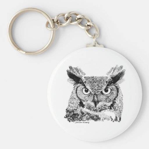 Horned Owl Keychains
