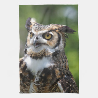 Horned Owl Kitchen Towel