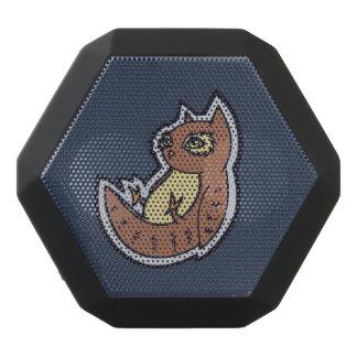 Horned Owl On Its Back Light Belly Drawing Design Black Bluetooth Speaker