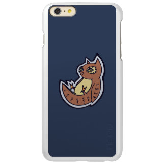 Horned Owl On Its Back Light Belly Drawing Design Incipio Feather® Shine iPhone 6 Plus Case