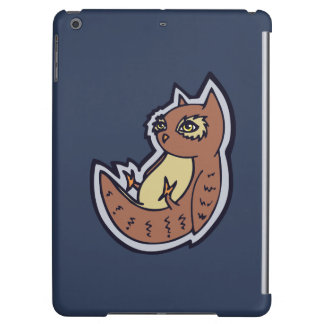 Horned Owl On Its Back Light Belly Drawing Design iPad Air Cases