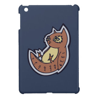 Horned Owl On Its Back Light Belly Drawing Design iPad Mini Covers
