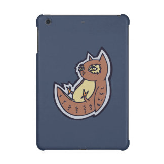 Horned Owl On Its Back Light Belly Drawing Design iPad Mini Retina Case
