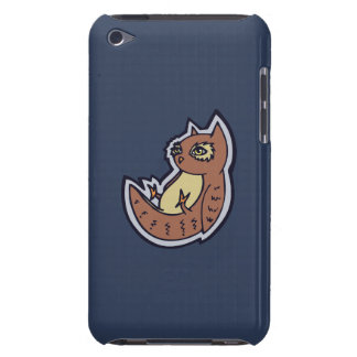 Horned Owl On Its Back Light Belly Drawing Design iPod Case-Mate Case