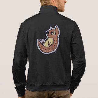 Horned Owl On Its Back Light Belly Drawing Design Jacket