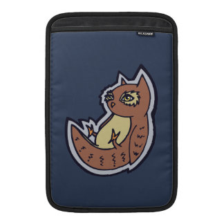 Horned Owl On Its Back Light Belly Drawing Design Sleeve For MacBook Air