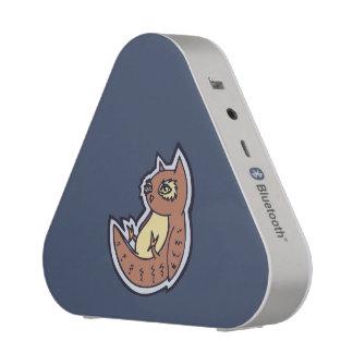 Horned Owl On Its Back Light Belly Drawing Design Speaker