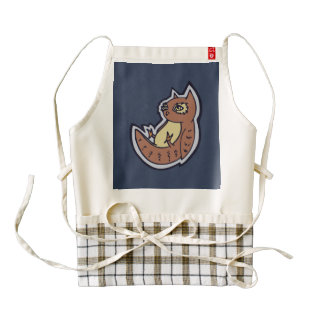 Horned Owl On Its Back Light Belly Drawing Design Zazzle HEART Apron